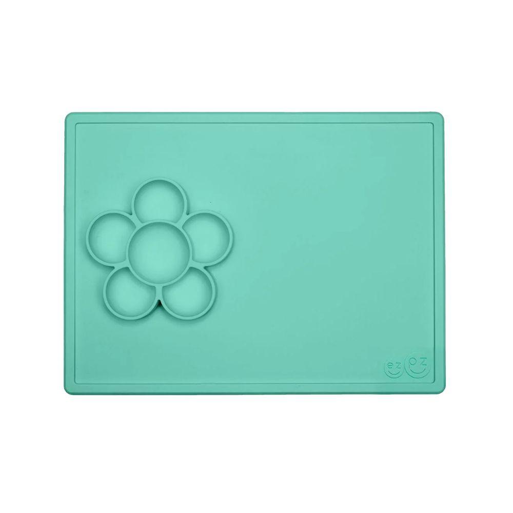 美國 ezpz - Play Mat小花遊戲盤-餐盤-薄荷綠 (42cm*31cm*3.2cm)