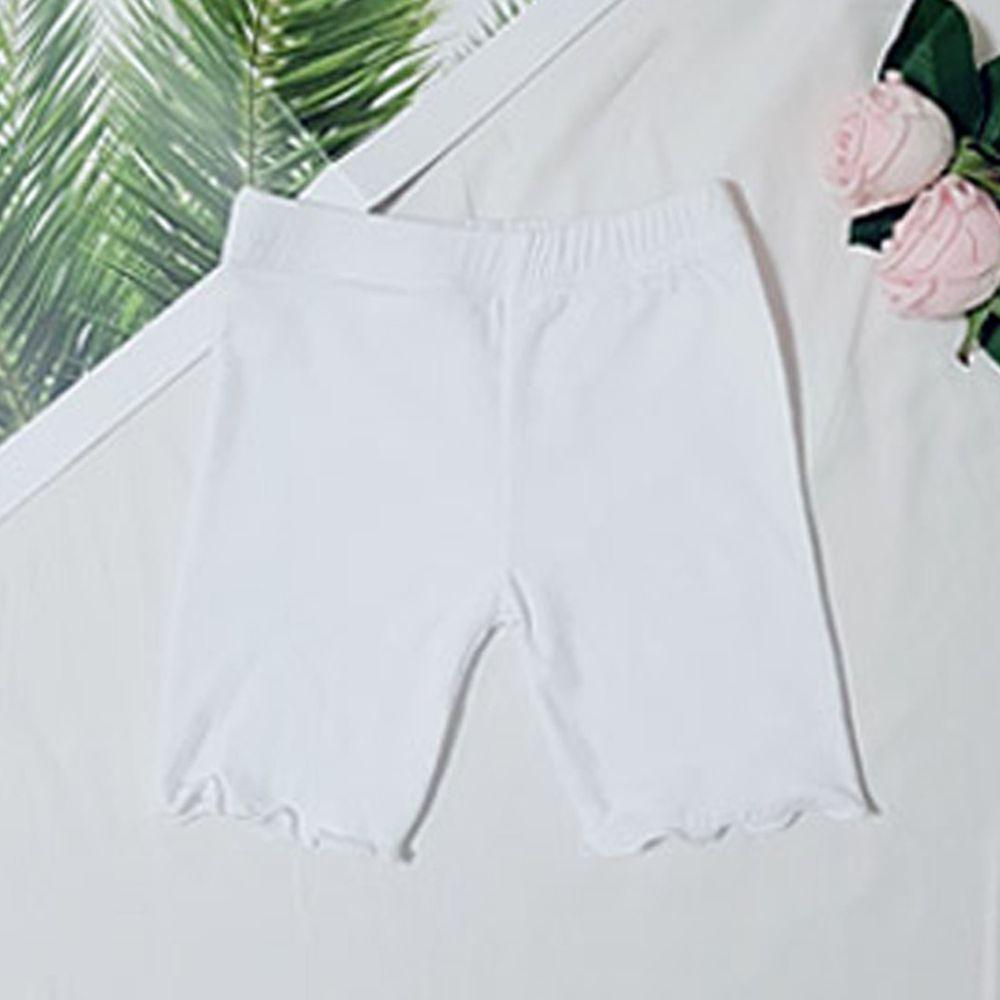 韓國 Rainbowkids - 40支純棉3分內搭褲/安全褲-白