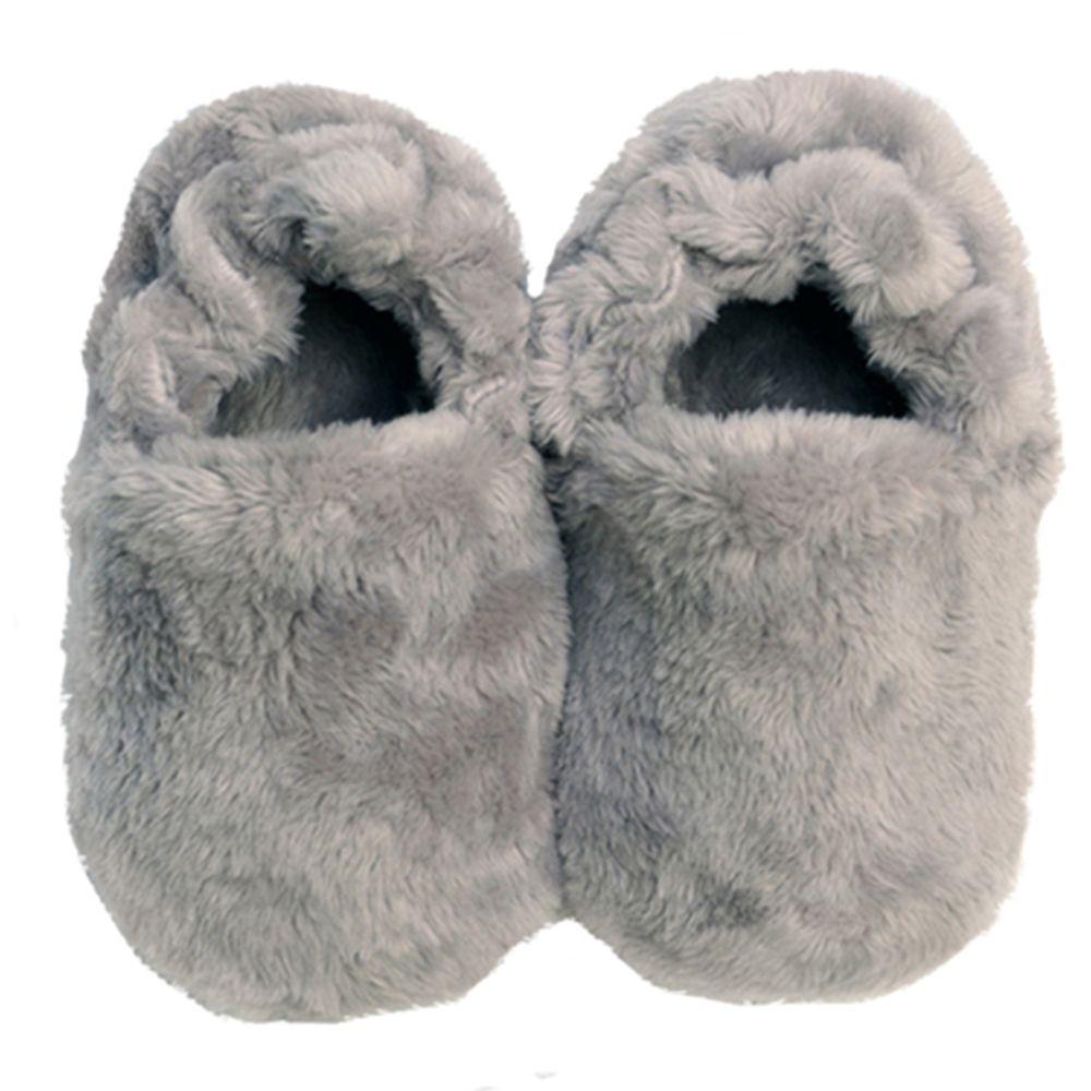 英國 POCO NIDO - 寶寶絨絨鞋/學步鞋-個性灰