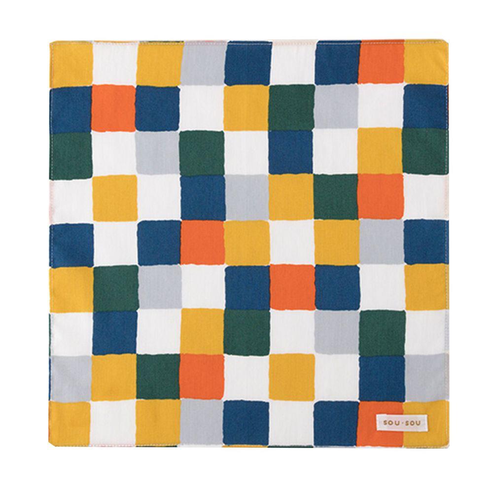 日本代購 - 【SOU·SOU】日本製今治純棉紗布手帕-格紋 (30x30cm)