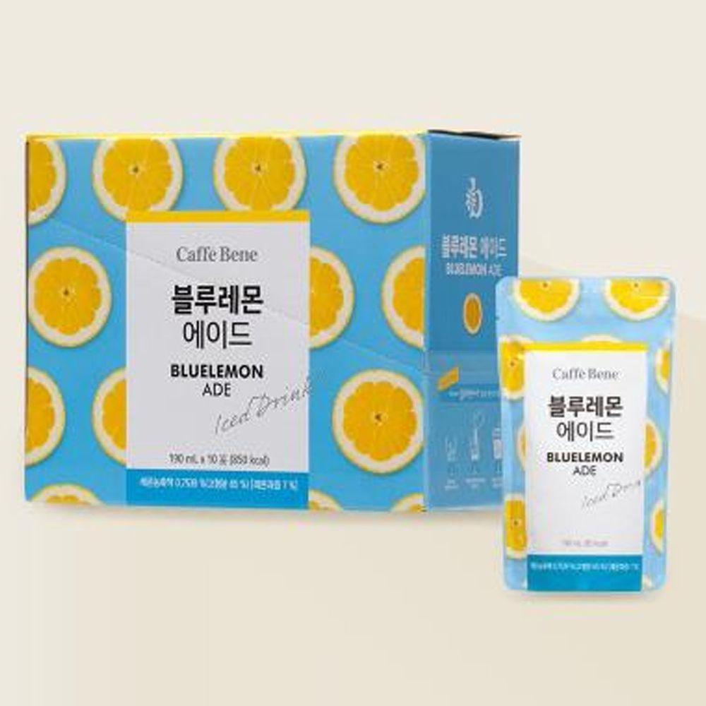 韓國Caffebene咖啡伴 - 藍檸檬風味飲料(190mlx10包/盒)