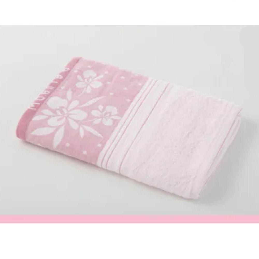 貝柔 Peilou - 高級純棉大浴巾-蘭花系列-粉紅 (70x145cm)