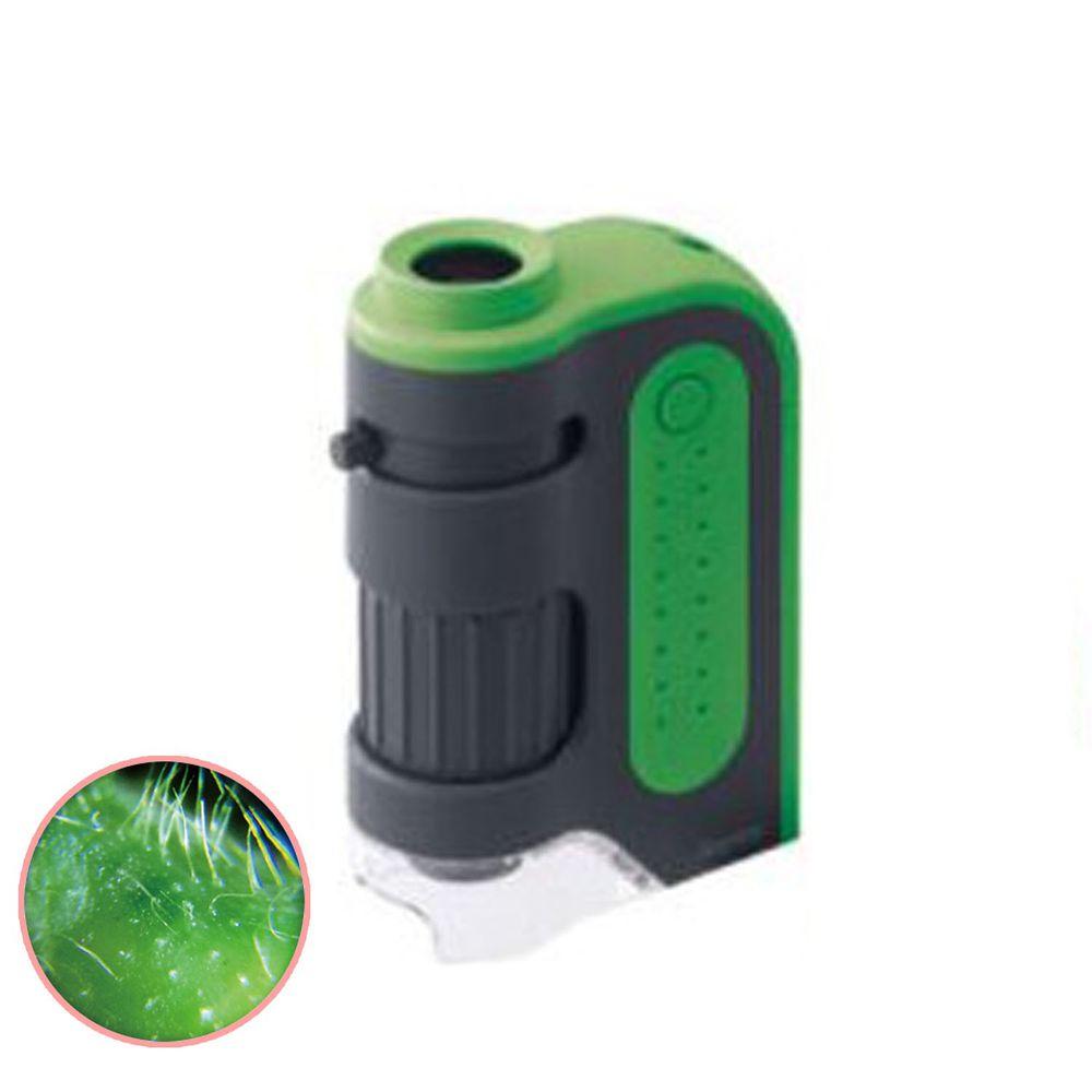 日本 Raymay - 攜帶式隨身顯微鏡-60-120倍率-綠