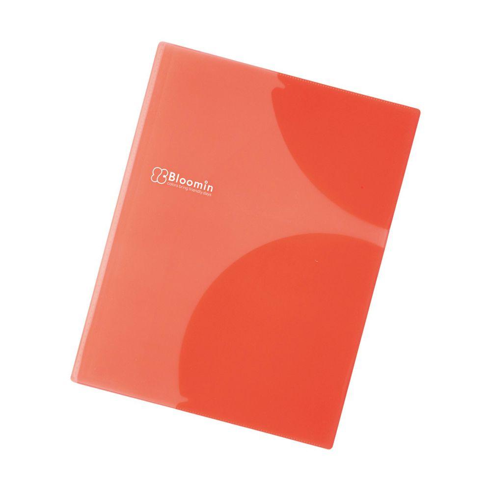 日本文具 LIHIT - 多重弧形卡夾設計文件資料夾-暖橘紅-8P (A4)-團購專案