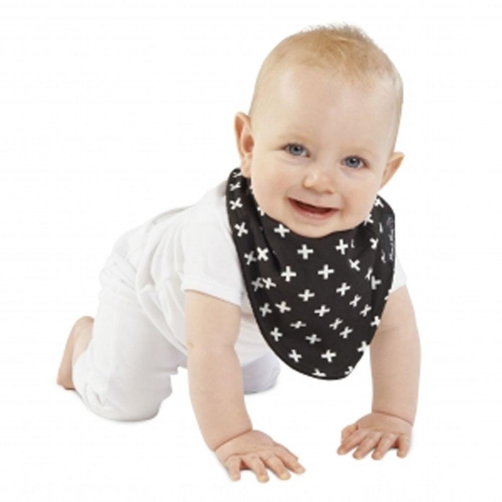 Mum 2 Mum - 雙面時尚造型口水巾圍兜-加號/黑