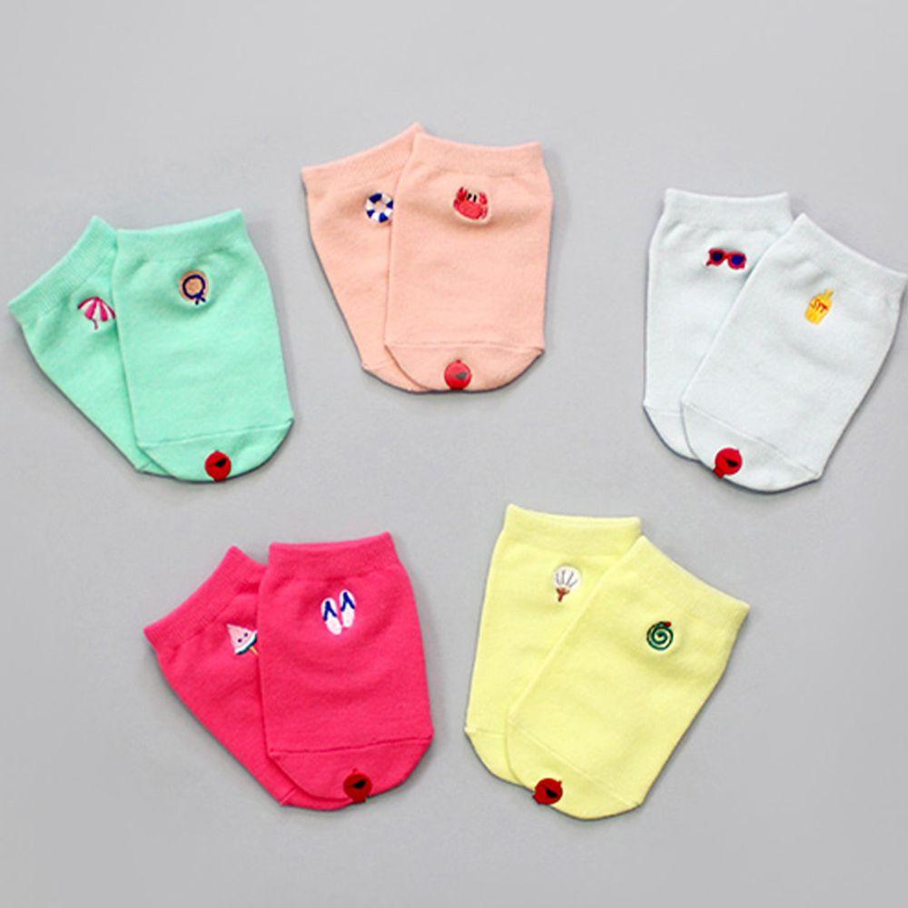 韓國 Kokacharm - 韓國製船型襪-五件組-Sunny Socks