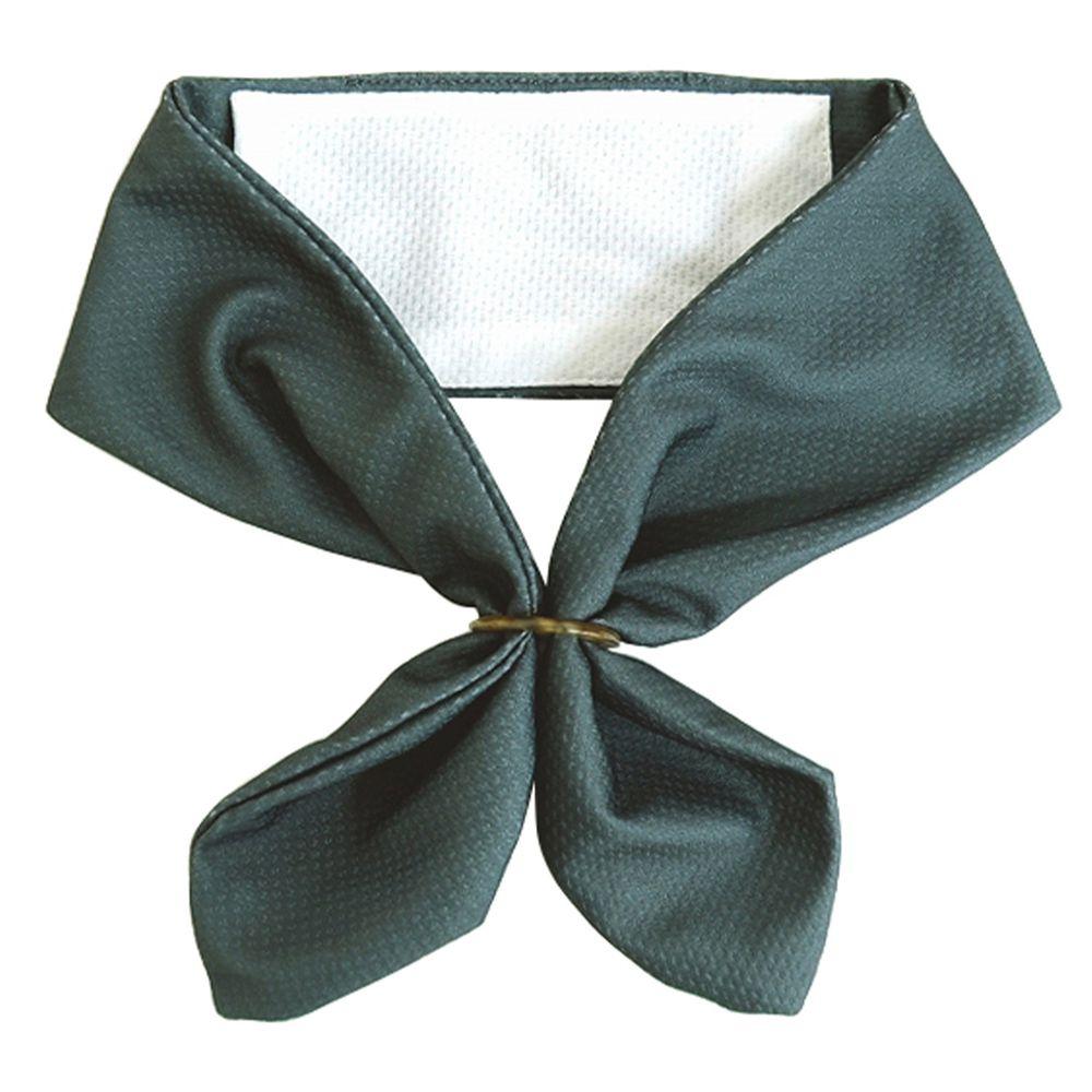 日本 DAIKAI - 抗UV接觸冷感 水涼感領巾(可放保冷劑)-純色-深灰 (70x8cm)