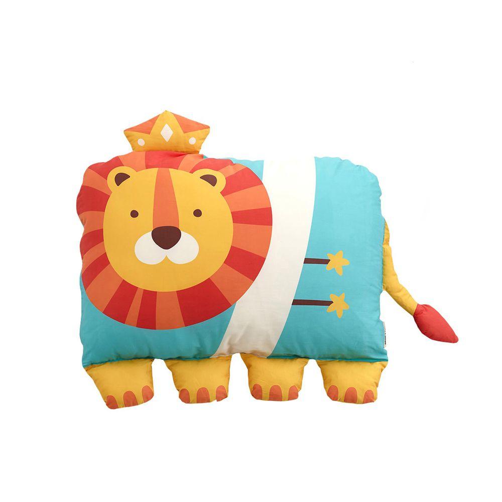 美國 Milo & Gabby - 動物好朋友-可水洗防蹣枕心+枕套組-LONNIE小獅王 (大枕-2歲以上)
