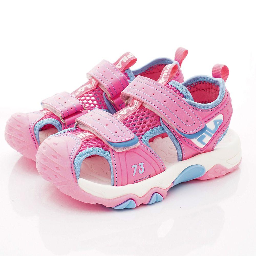 FILA - 護趾運動涼鞋(中小童段)-粉