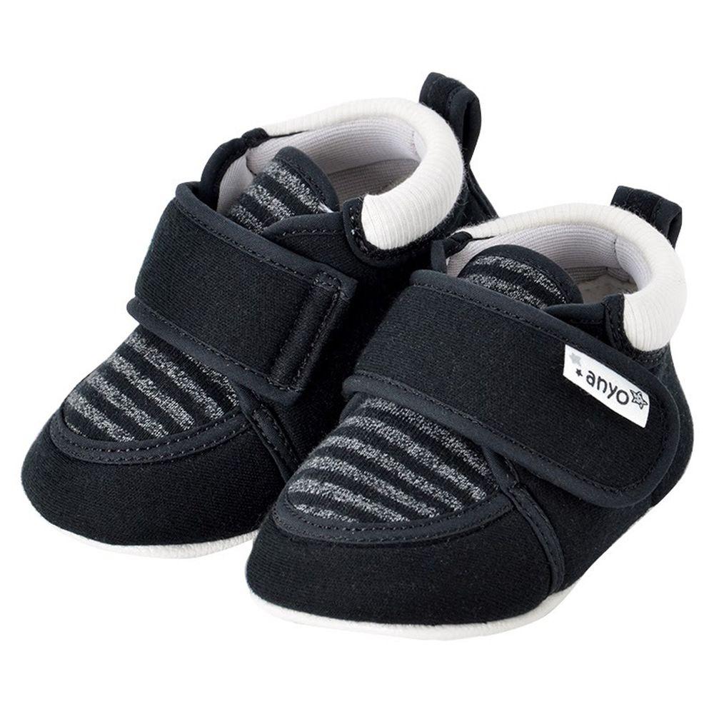 akachan honpo - 學步鞋-橫紋-黑色