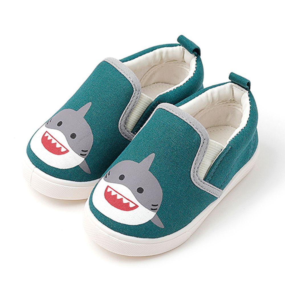 韓國 OZKIZ - 可愛動物兒童休閒鞋/室內鞋-鯊魚