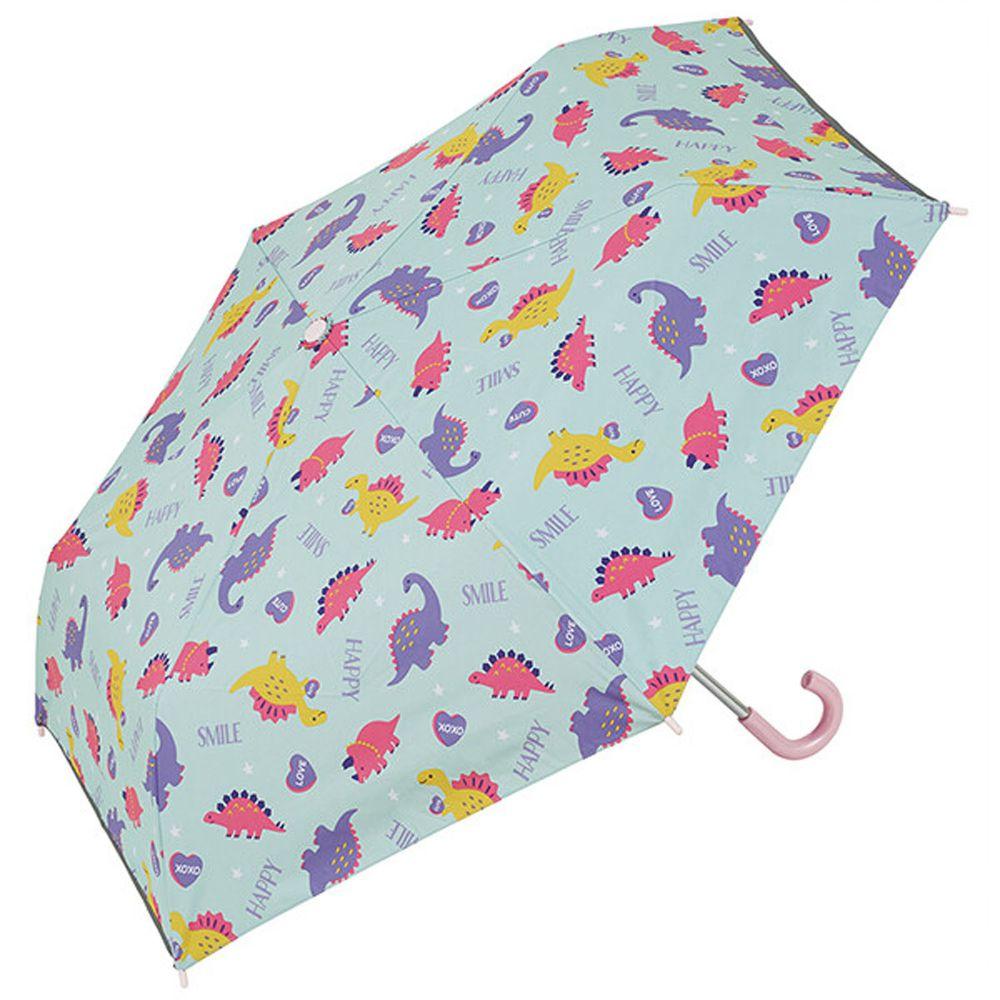 日本 SKATER 代購 - 卡通晴雨兩用折疊傘-恐龍世界-粉嫩藍 (50cm(115-125cm))