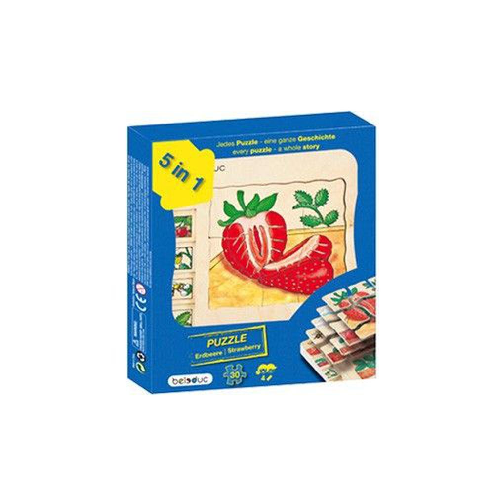 Beleduc - 多層拼圖-草莓