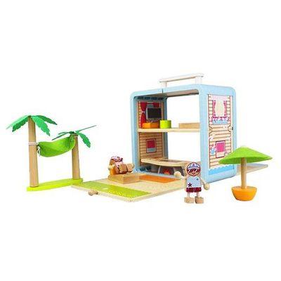 趣味木頭玩具箱-海灘屋(II)