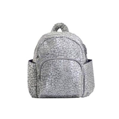 HARU 日本布料-小童背包-KIDS BAG-銀錢豹 (背面為同色布料)