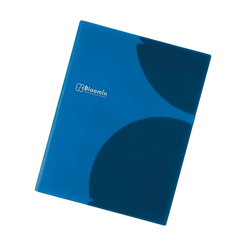 日本文具 LIHIT - 多重弧形卡夾設計文件資料夾-天空藍-8P (A4)-團購專案