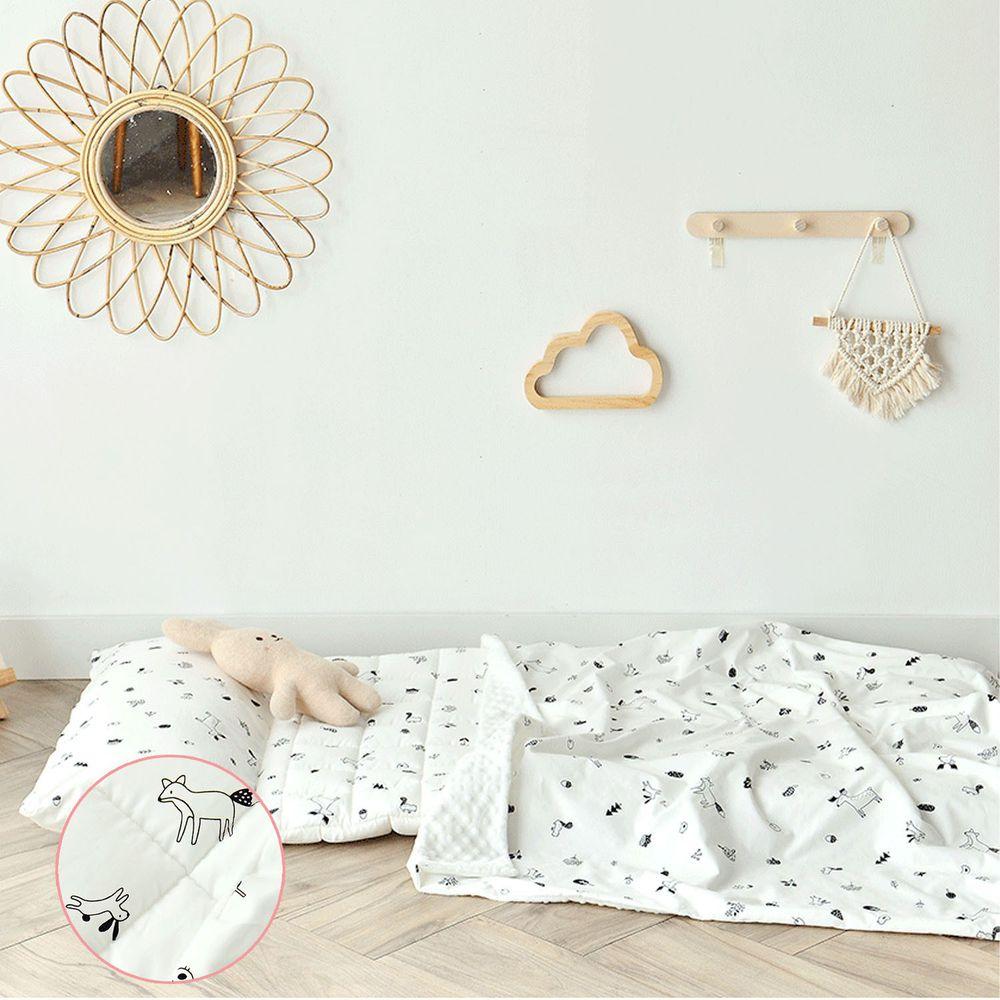 韓國 Formongde - (升級版)6cm厚雙面用睡袋/寢具(附收納袋)-森林好朋友