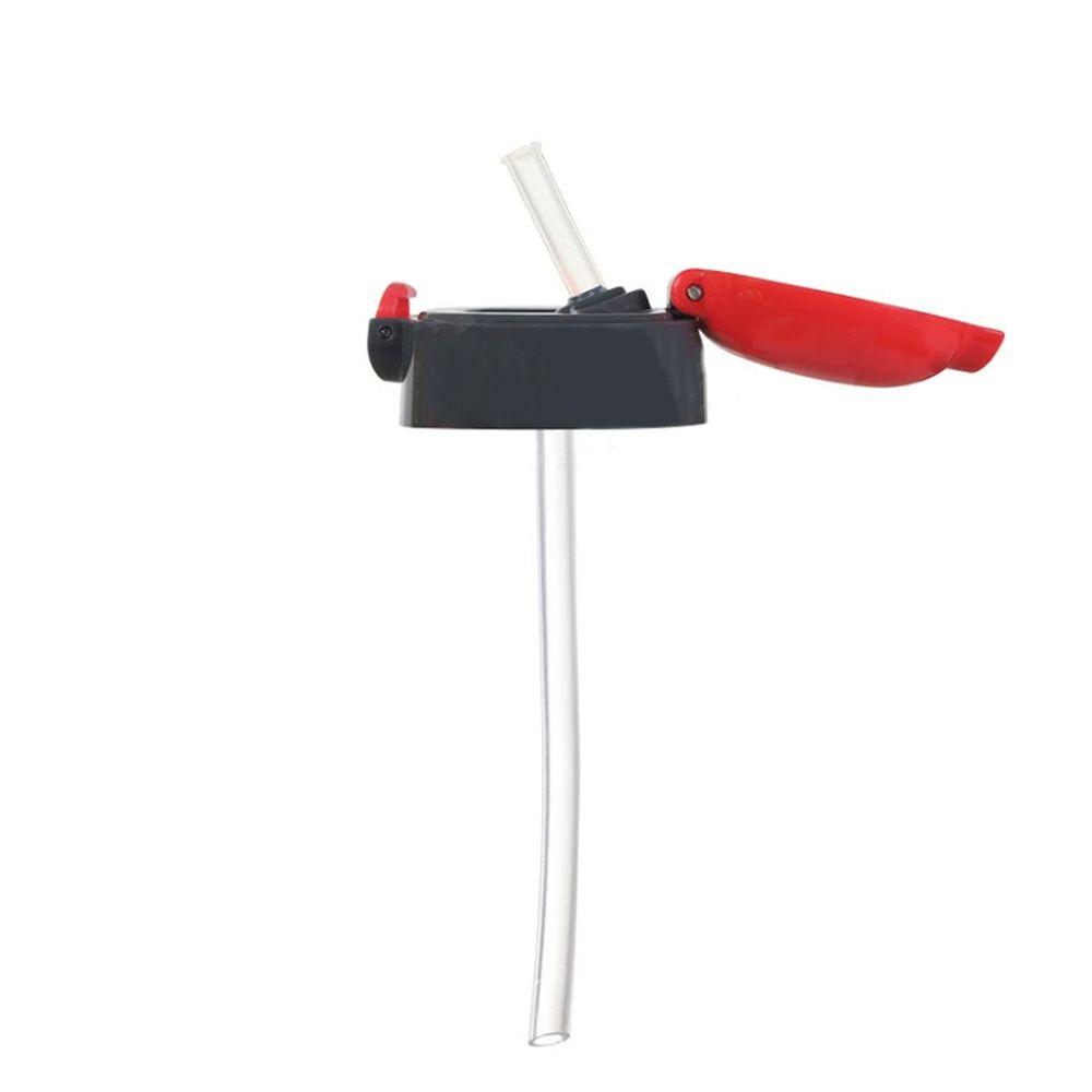 日本 SKATER - 兒童PET吸管水壺(480ml)-吸管上蓋-紅灰
