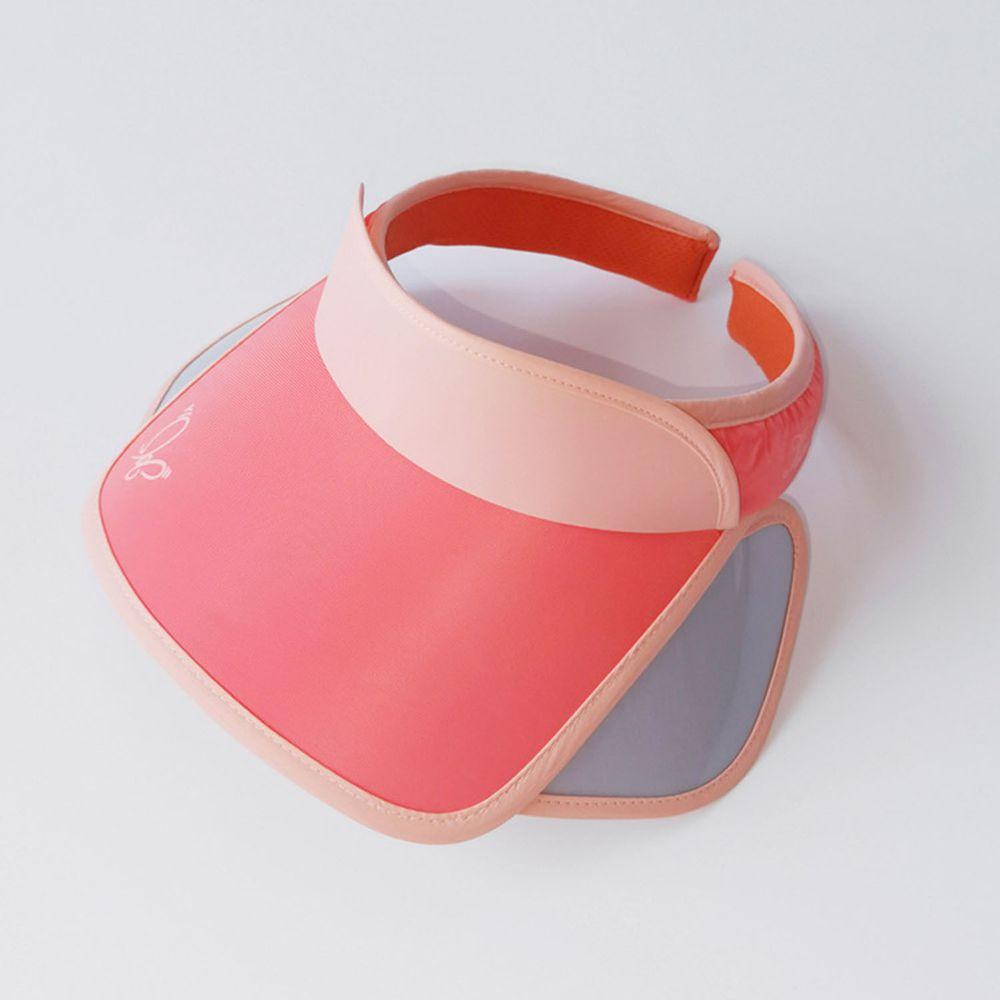 兒童大帽沿空頂遮陽帽-蝴蝶-橘色 (50-53cm)