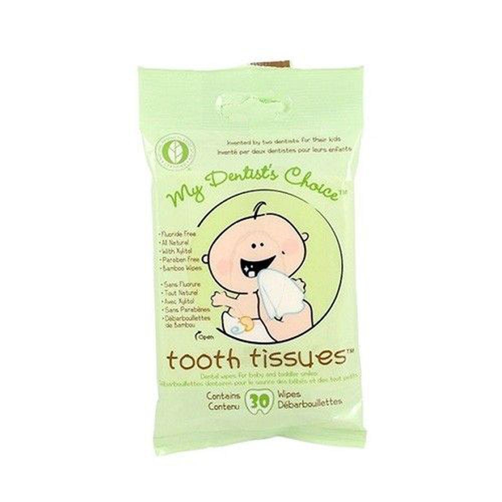 美國 My Dentist's Choice - 木醣醇潔牙巾-有效期限:20210930 (15*10cm)-30抽/包