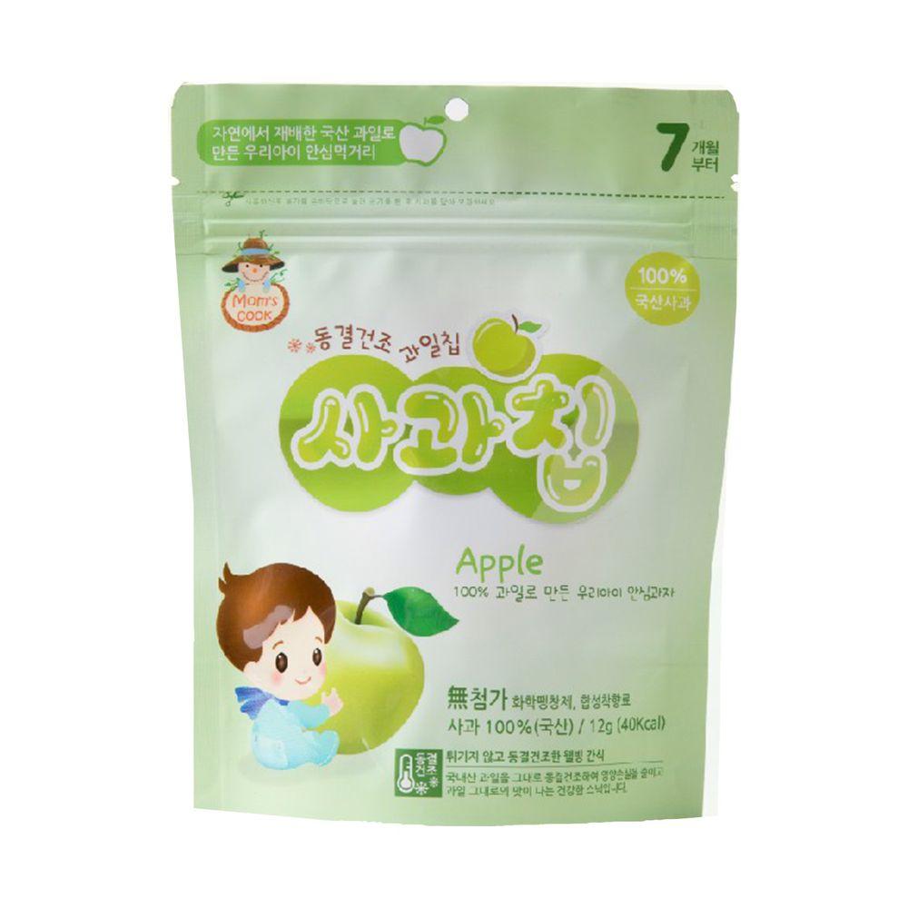 韓爸田園日記 - 寶寶乾水果片-蘋果 (7個月以上)-1包/12公克