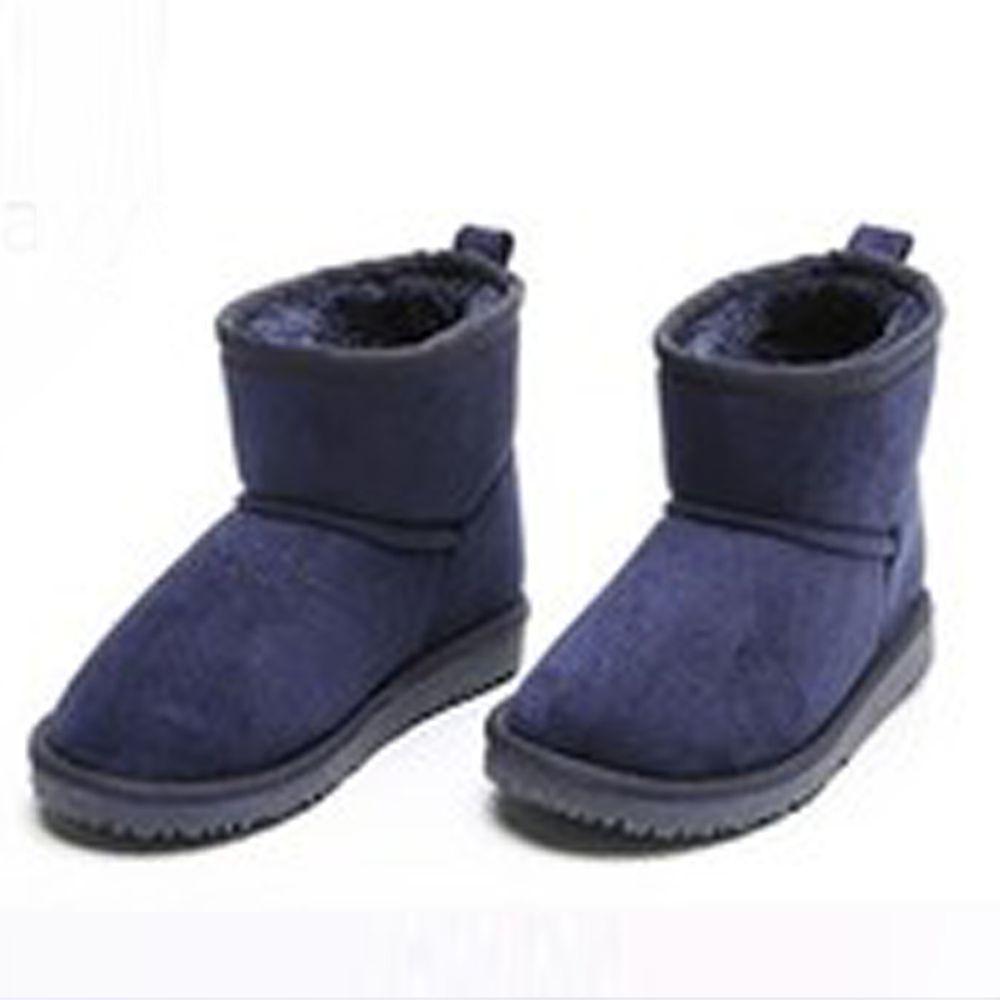 日本 Maison de Ravi - 保暖毛絨短筒雪靴-海軍藍
