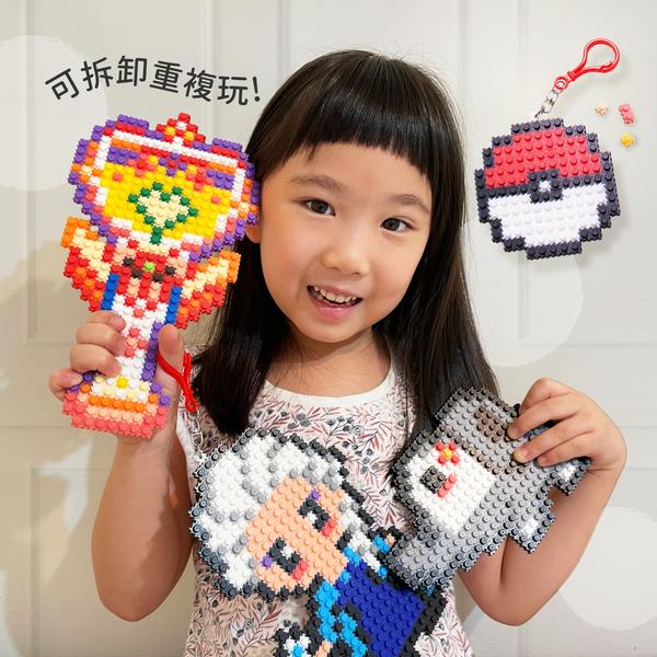 免熨燙【韓國咕咕拼豆】可拆卸重複玩,想玩幾次就玩幾次!