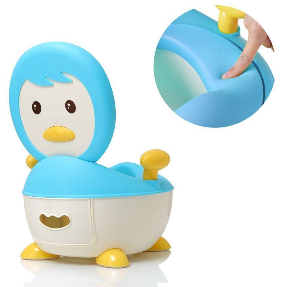 babyhood - 企鵝恆溫軟墊座便器-藍
