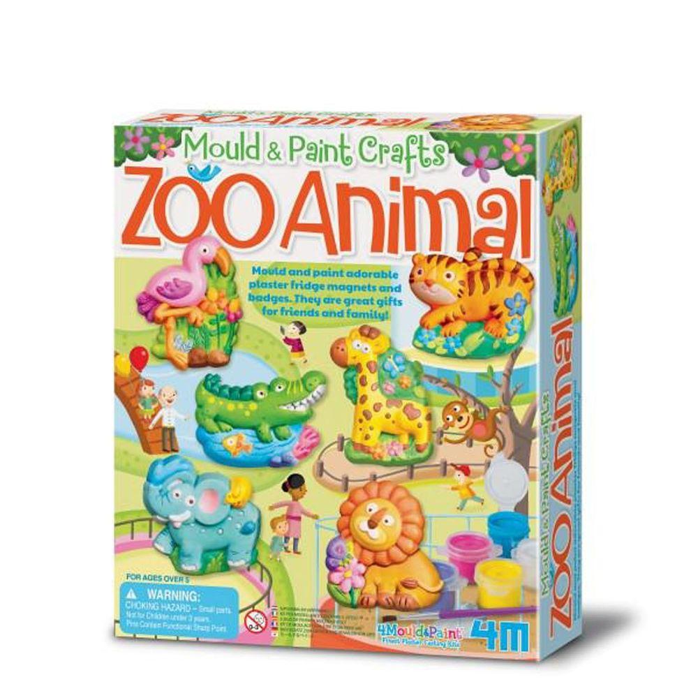 香港4M創意玩具 - 製作磁鐵-我的動物園