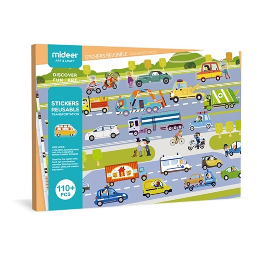 MiDeer - 靜電場景貼紙-交通主題-110張