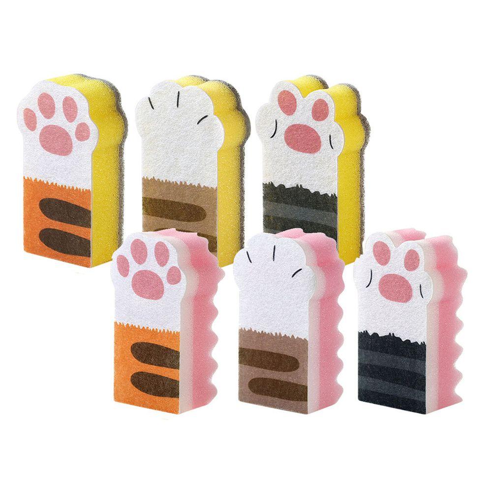 貓爪海綿碗盤&鍋具清潔刷-共6入