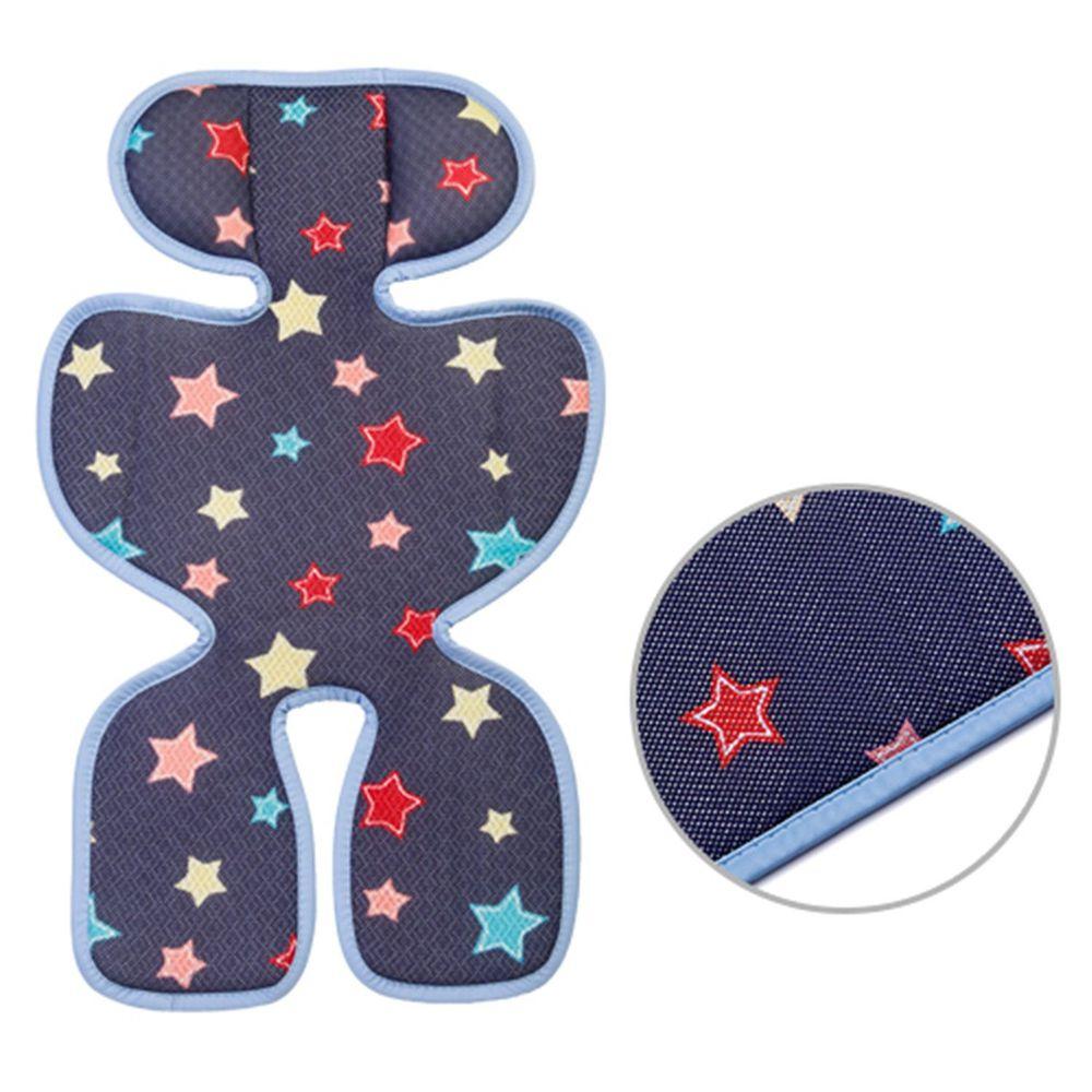 韓國 GIO Pillow - ICE SEAT 超透氣推車/汽座專用涼爽座墊-豪華款-A型(褲型)-夜晚星星
