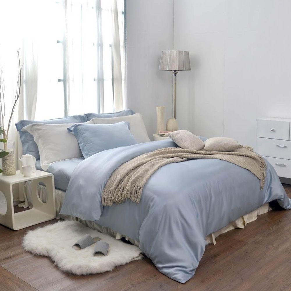格蕾寢飾 Great Living - 義大利La Belle《簡約純色》天絲被套-藍色