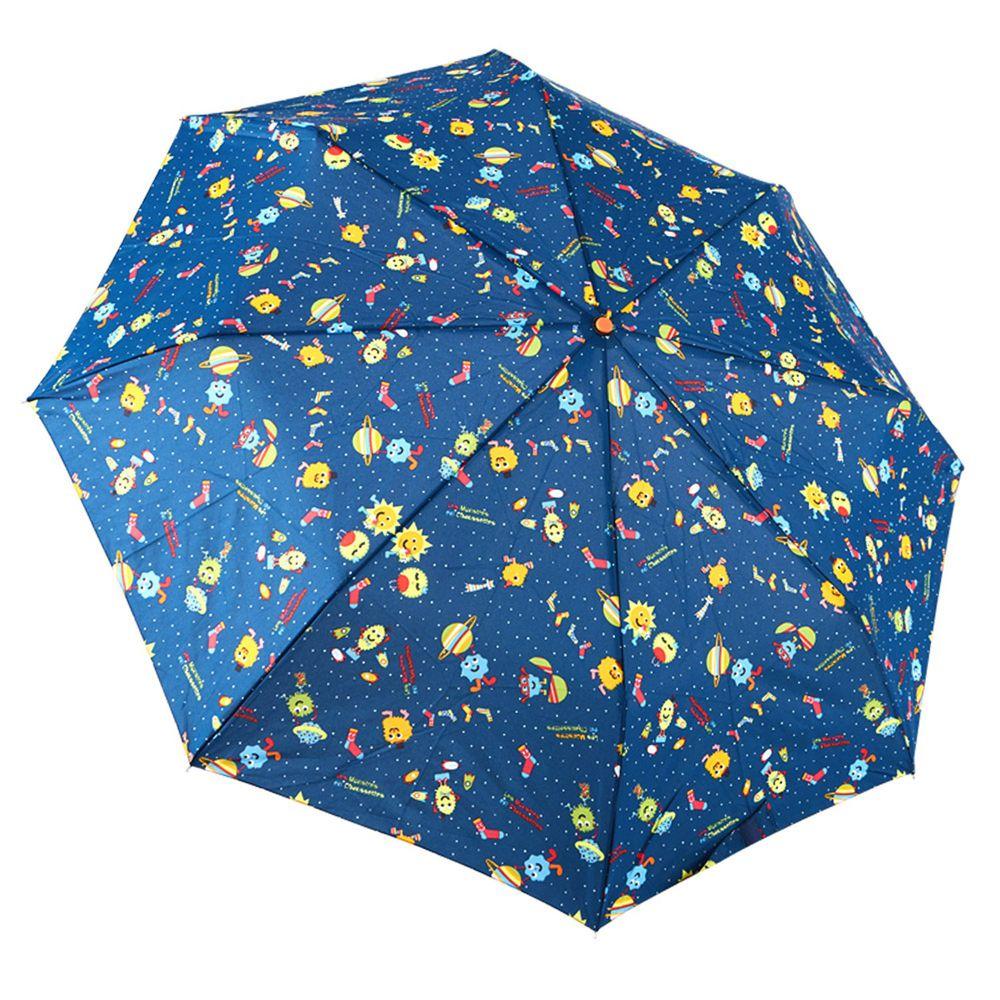 Rainstory - 抗UV雙人自動傘-怪獸PARTY-藍