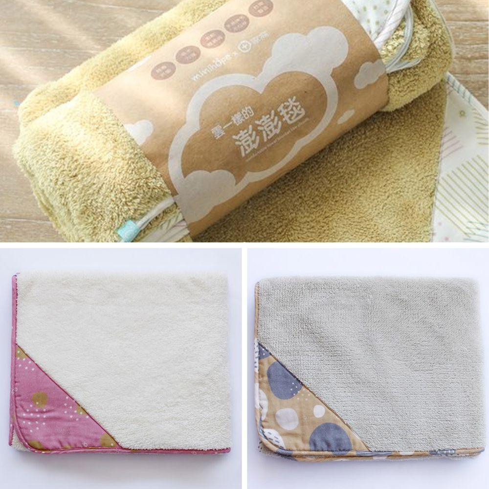 minihope美好的親子生活 - 雲一樣的澎澎毯-3件組 (75x120cm*3)-淺灰+米白+芥黃各*1