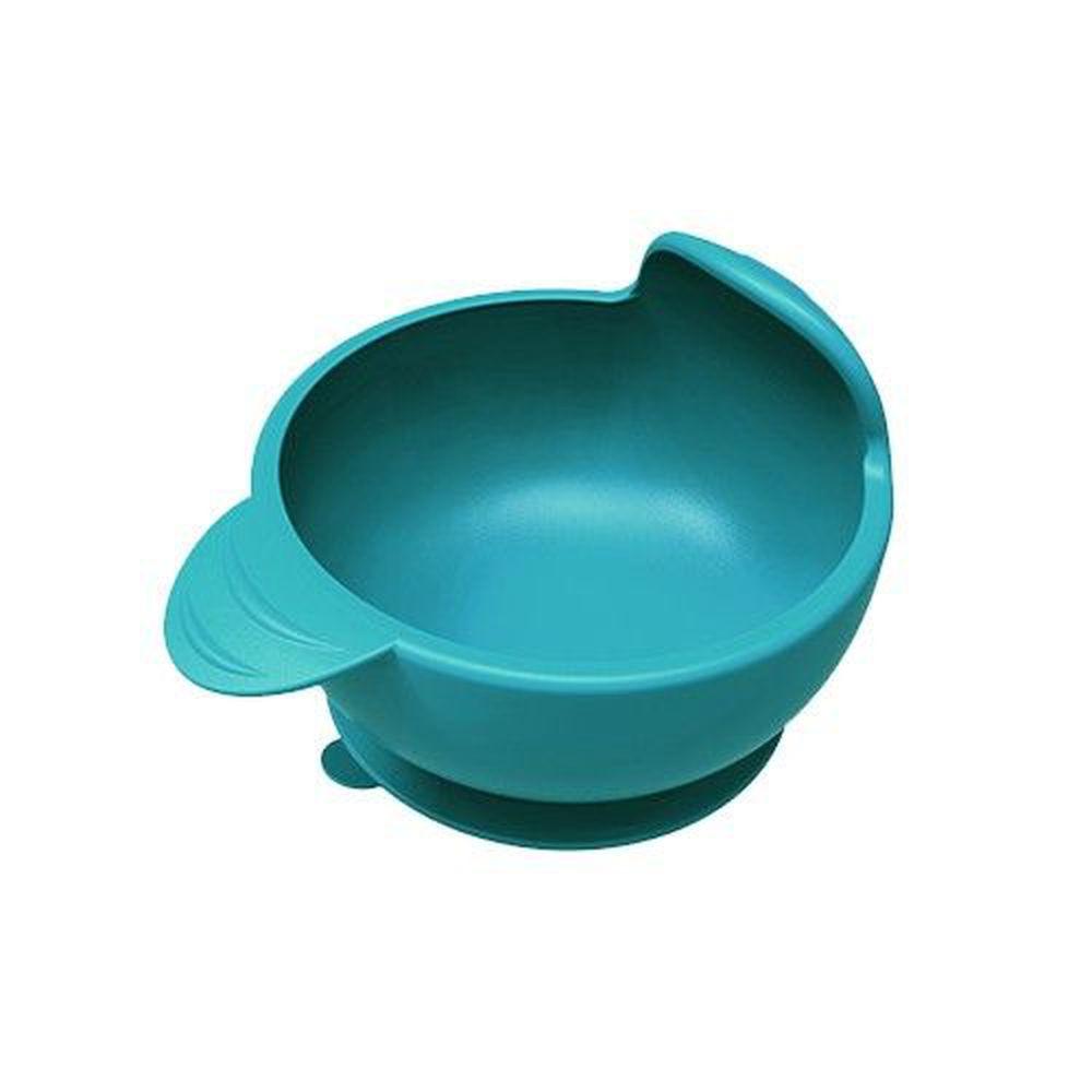 PUKU 藍色企鵝 - 矽膠防漏魔吸碗_海水藍-海水藍