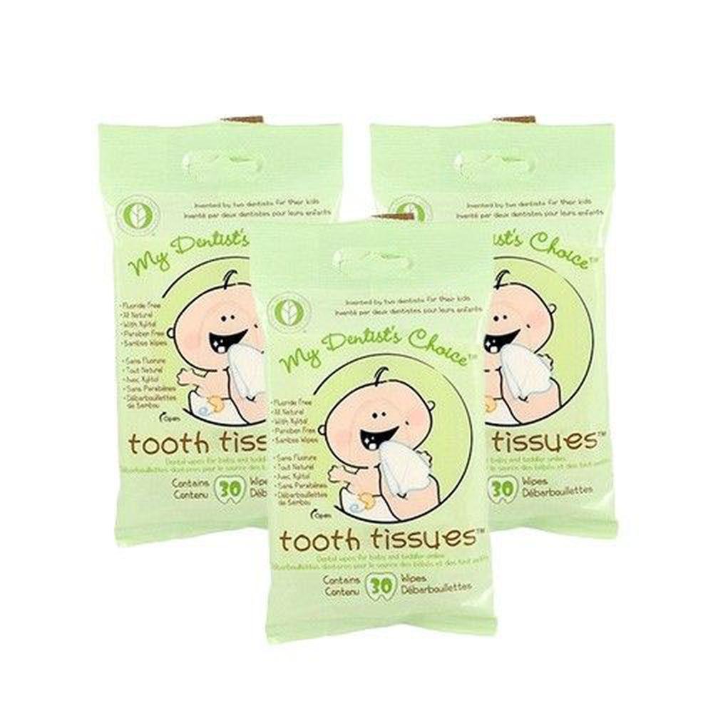 美國 My Dentist's Choice - 天然木醣醇潔牙巾(30抽/包)-3入促銷組