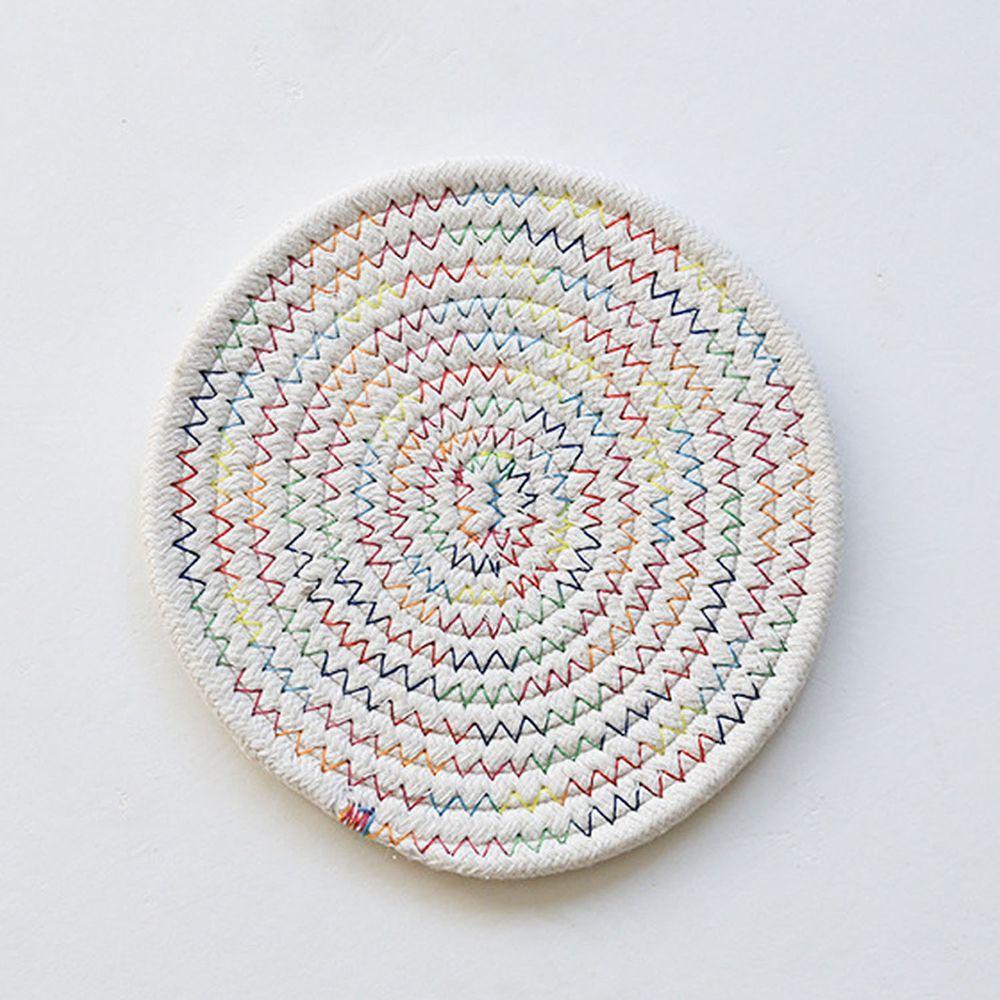 日系感編織隔熱墊-亮彩色