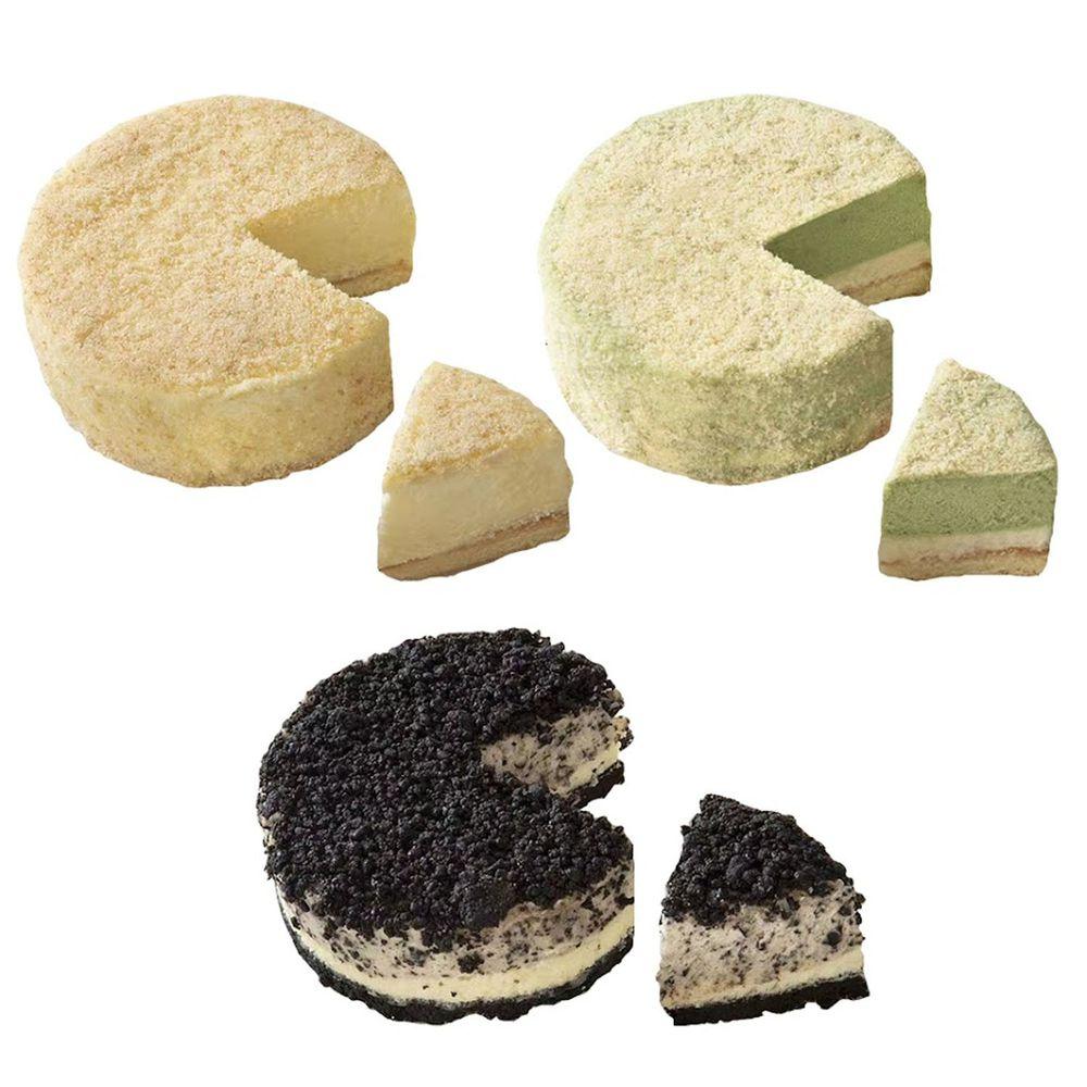 加拿大Love Me Sweet - 雙層冰心乳酪蛋糕三入組-原味+抹茶+巧克力各一 (四吋)-684g*3個