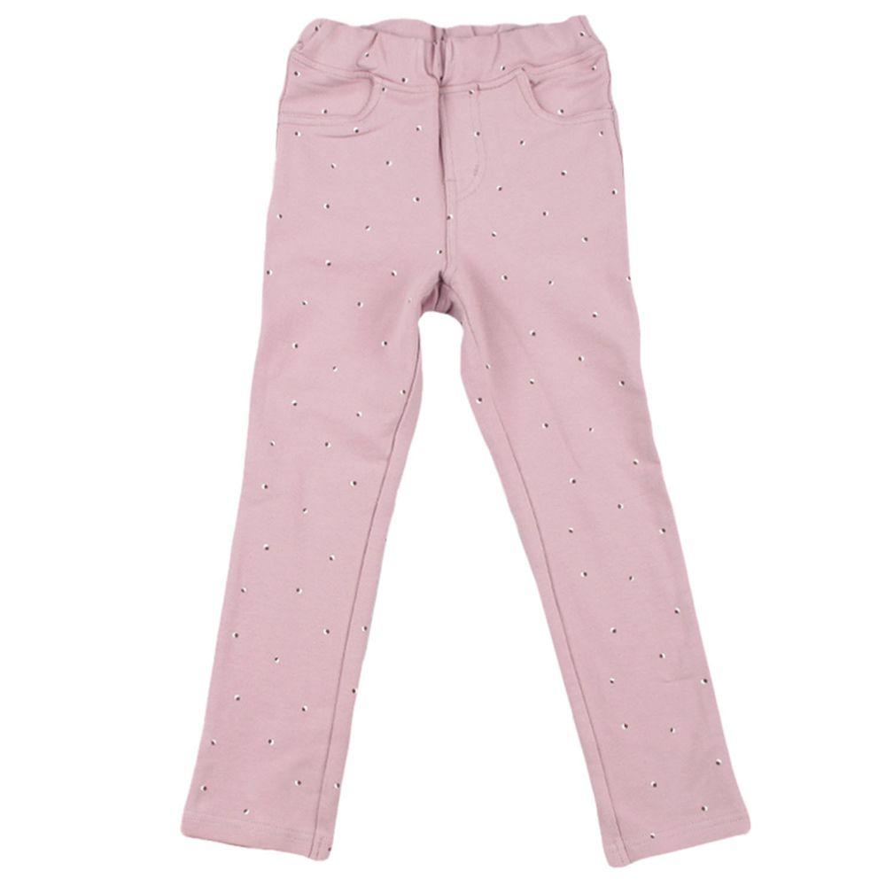 akachan honpo - 10分彈性褲-花紋-紫色