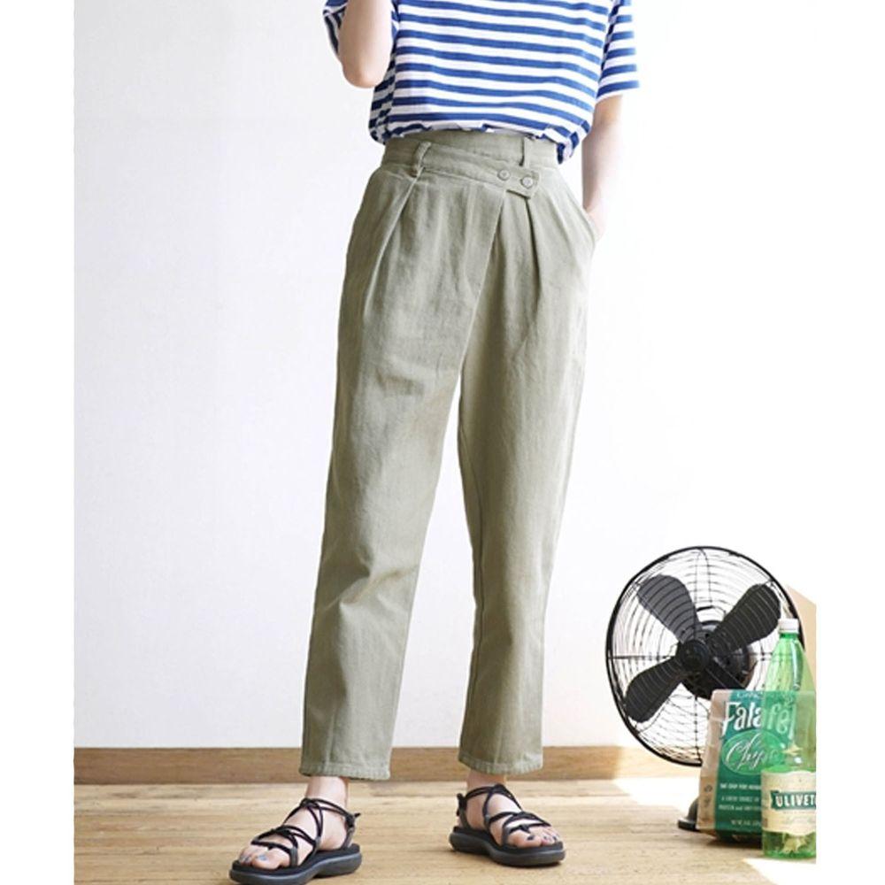 日本 zootie - 純棉復古設計感哈倫單寧長褲-綠