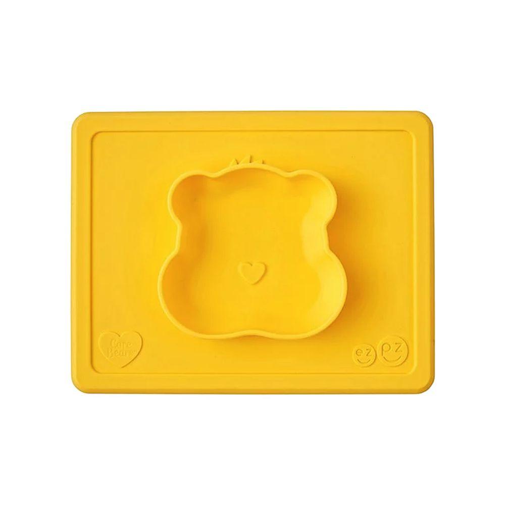 美國 ezpz - Care Bears聯名餐碗-貪玩熊-餐碗-黃 (23cm*18cm*2.54cm)-170ml