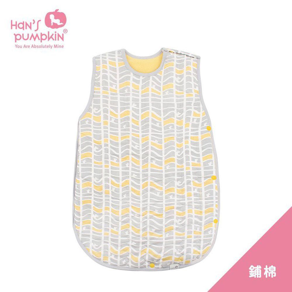 Han's Pumpkin - 冬季鋪棉式防踢被-鋪棉型-小波浪