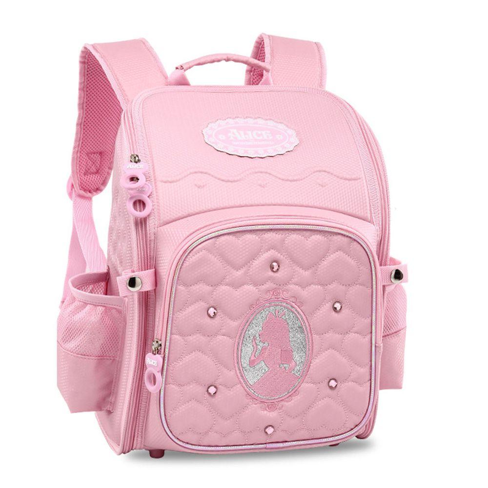 大開口減壓輕量太空書包-童話公主-粉色 (建議身高100-130cm)