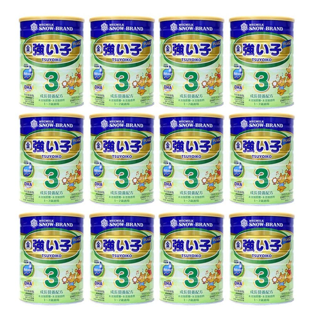 雪印 - 金強子3 PLUS成長營養配方900gX12罐