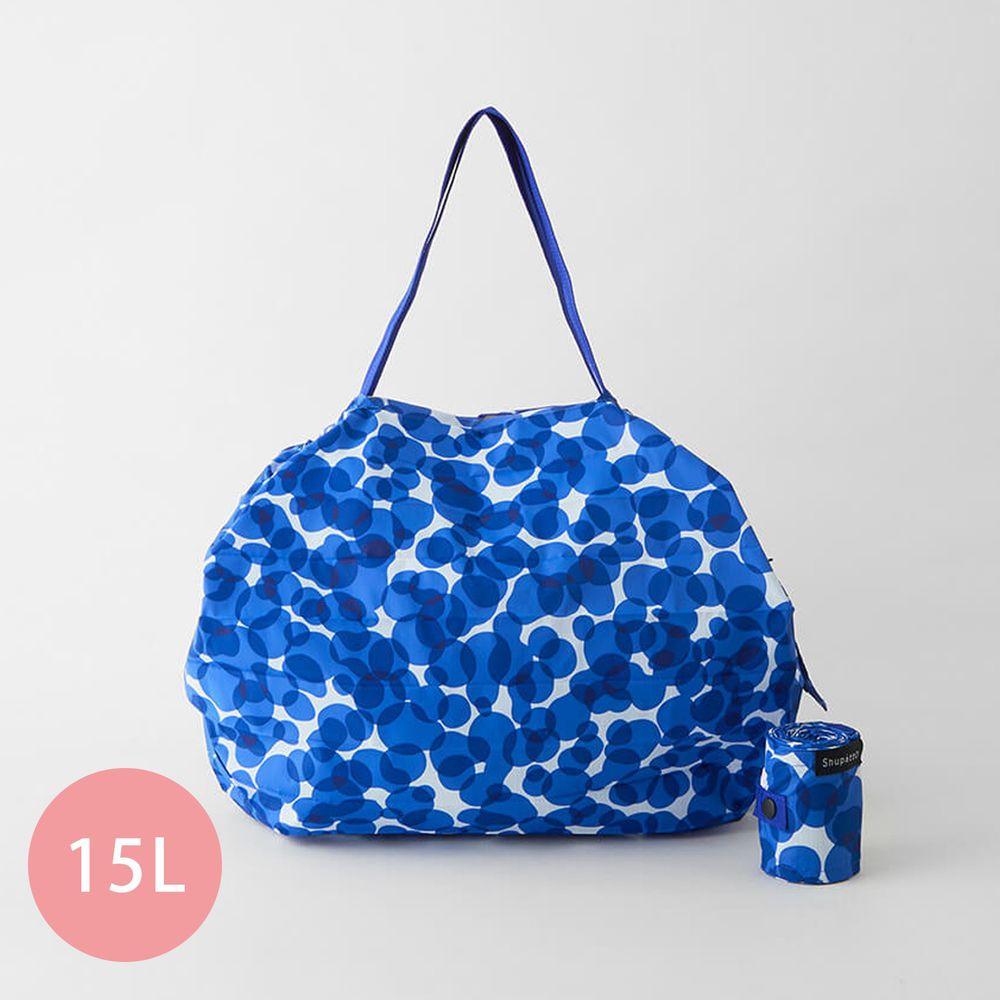 日本 MARNA - Shupatto 秒收摺疊購物袋-五週年限定升級款-漣漪波點 (M(30x35cm))-耐重5kg / 15L