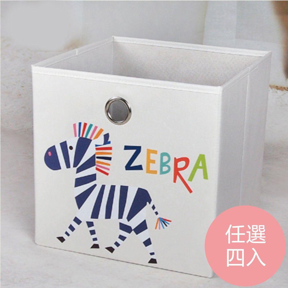 舒福家居 isufu - 玩具收納箱(任選四入)-請備註款式/如無備註則隨機出貨 (33*33*33L (4入))