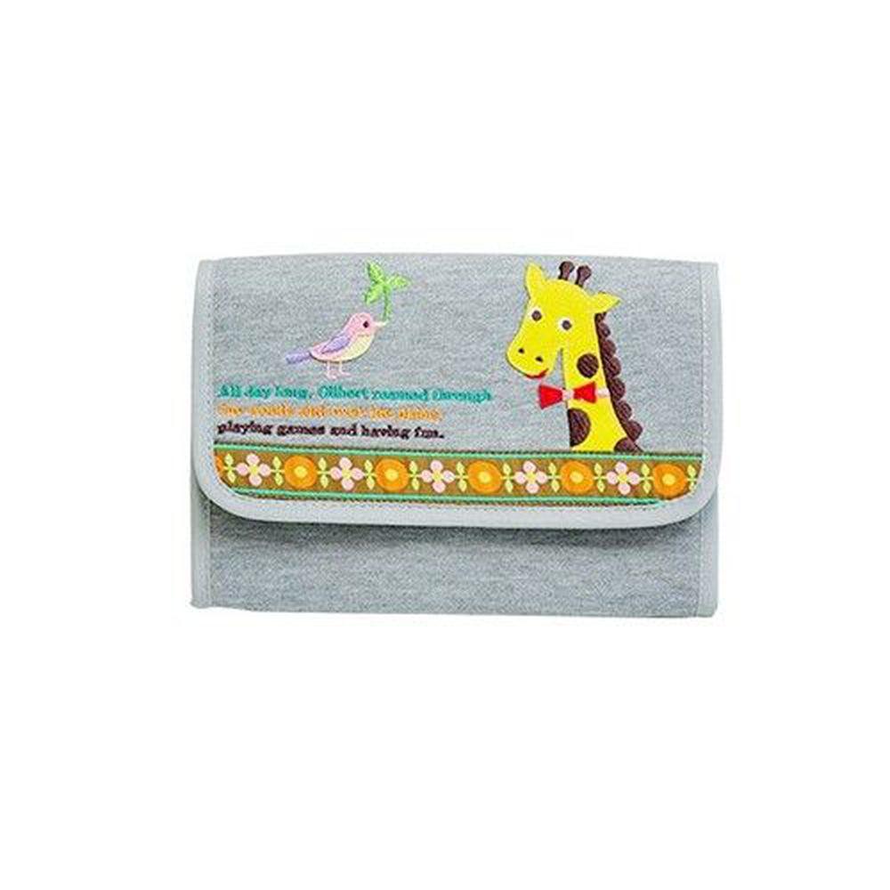 日本 KNICK KNACK - 母子手帳萬用包-長頸鹿