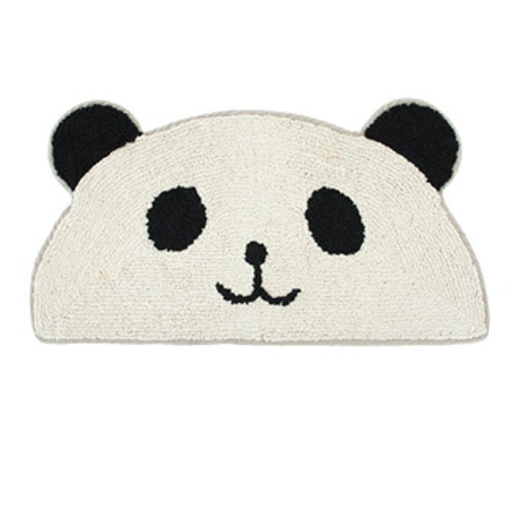 日本 TOMO - 半圓臉可愛動物腳踏墊-熊貓 (約35x75cm)