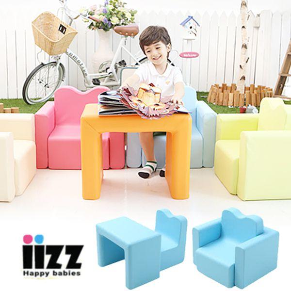 【韓國 IIZZ】益智積木沙發組/ 折疊沙發床♛ 孩子專屬的小王位
